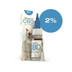 Huile CBD 2% pour chats -...